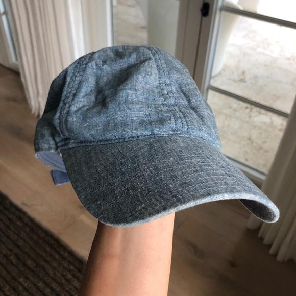 bb4ff0ad9599e J. Crew Accessories - J Crew chambray baseball cap hat